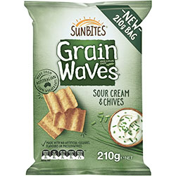 Sour cream and chives Grain Waves - 210g thumbnail