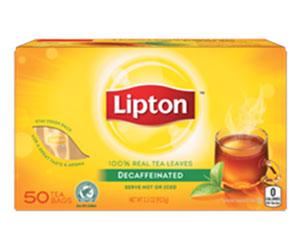 Decaffeinated tea bags - Lipton thumbnail