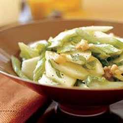 Apple and celery salad with walnuts and parmesan thumbnail