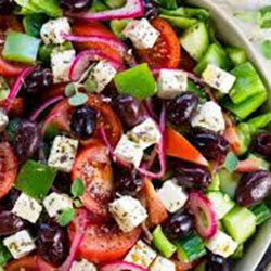 Greek salad with fetta cheese thumbnail