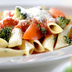 Pasta salad with chilli, lime and mayonnaise dressing thumbnail