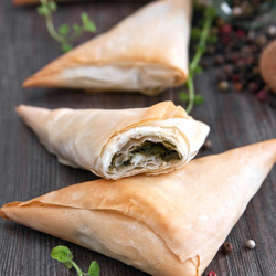 Spinach and cheese filo - mini thumbnail