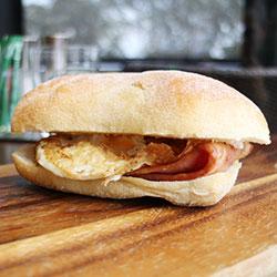 Bacon and egg focaccia  thumbnail