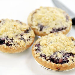 Blueberry and apple crumble tart thumbnail