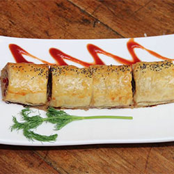 Pork and chestnut sausage roll thumbnail