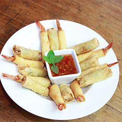 Spring rolls and prawn cutlets thumbnail