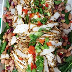 Chicken and mixed peas salad thumbnail