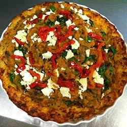 Baked quinoa flan slices thumbnail