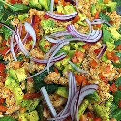 Smoked chicken breast and avocado salad thumbnail