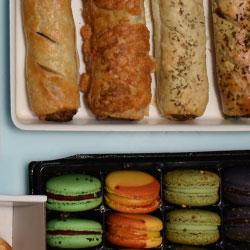 Sausage roll and macaron package thumbnail