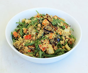 Cous cous with chermoula spiced roast vegetables salad thumbnail