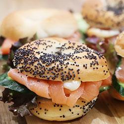 Smoked salmon new york bagels - mini thumbnail