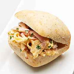 Bacon and egg ciabatta roll - small thumbnail