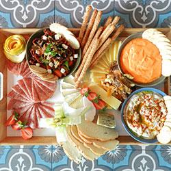 Cheese and dips platter thumbnail