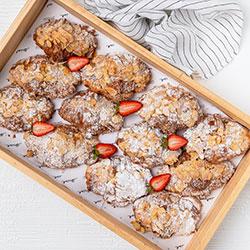 Almond croissants - mini thumbnail