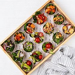Assorted side salad bowls thumbnail
