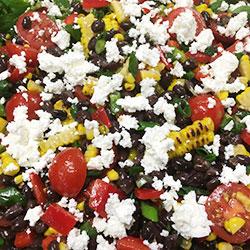 Chargrilled corn, black bean and feta salad thumbnail