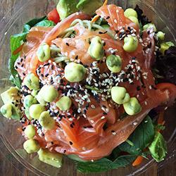 Sashimi salmon-ai warrior salad thumbnail
