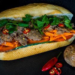 Vietnamese meatball banh mi thumbnail