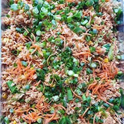 Traditional Singapore fried rice platter thumbnail
