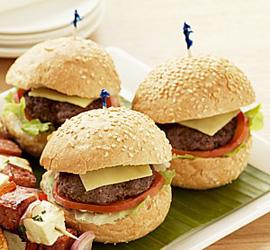 Hamburger with tomato relish - mini thumbnail