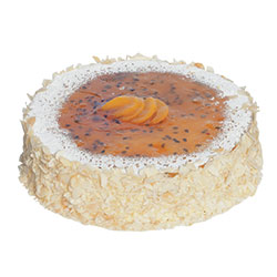 Peach and passionfruit cheesecake thumbnail