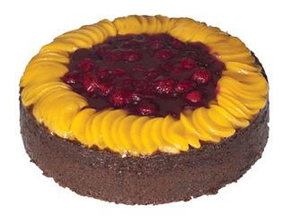Peach and raspberry tea cake thumbnail