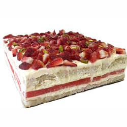 Strawberry and Watermelon Square Cake thumbnail