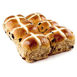 Hot cross buns - 8 cm - 6 pack - BULK order special thumbnail