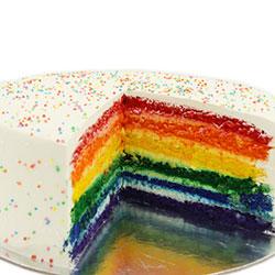 Rainbow layer cake thumbnail