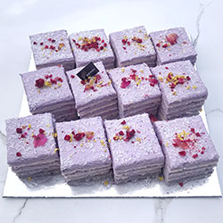 Taro and coconut cake slice - mini thumbnail