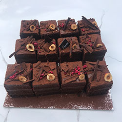Vegan choc hazelnut slice - mini thumbnail