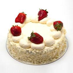 Traditional strawberries and cream sponge thumbnail