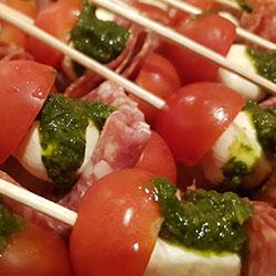 Pepperoni caprese bites thumbnail