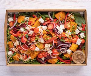Pickled baby beet, pumpkin and feta salad thumbnail