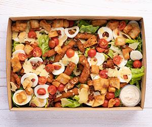 Italian crumbed chicken Caesar salad thumbnail