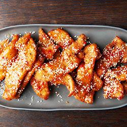 Honey chilli chicken strip thumbnail