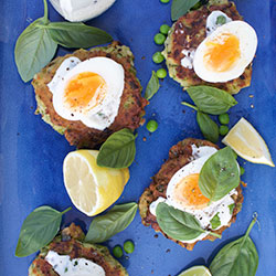Pea, zucchini and mint fritters thumbnail
