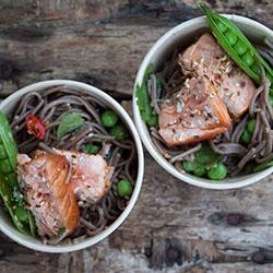 Salmon and soba noodle salad thumbnail
