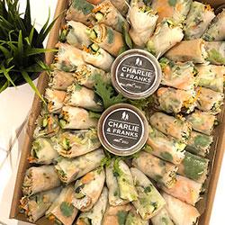 Vietnamese rice paper rolls platter thumbnail