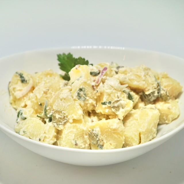 Balkan style potato salad thumbnail