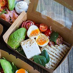 Greek feta and miche crisp bread breakfast box thumbnail