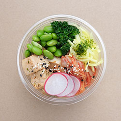 Chicken teriyaki poke bowl (Low Gluten) thumbnail