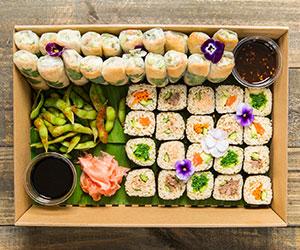 Sushi train platter - Serves 10 guests (Low Gluten) thumbnail