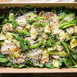 Chicken, avocado and sweet potato noodle salad (Low Gluten) thumbnail