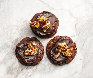 Chocolate Afghan cookie with walnut praline thumbnail