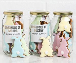Colourful gingerbread bunny gift jar thumbnail