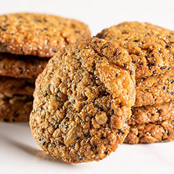 Golden oat sesame chia and apricot cookies thumbnail