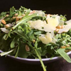Rocket, shaved parmesan and pine nut salad thumbnail