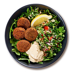 Middle Eastern falafel salad bowl thumbnail
